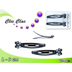 CLIC CLAC C/FARFALLA  STRASS 2PCS