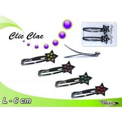 CLIC CLAC C/STELLA GRANDE STRASS 2PCS