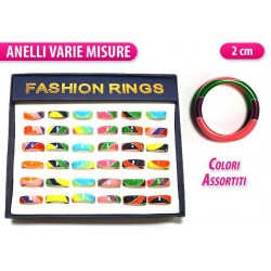 ANELLO FASCIA COLORATA BOX 36PCS