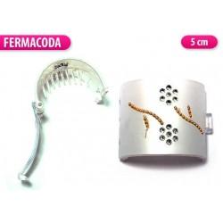 FERMACAPELLI BIANCO CON STRASS