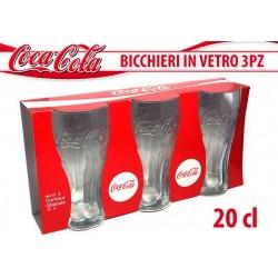 COCA COLA BICCHIERI VETRO 3 PZ.200 ML NS