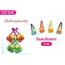 CLIC CLAC 4 PZ. ORSETTO COLORI ASS.
