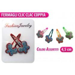 CLIC CLAC 2 PZ. FARFALLA COLORI ASS.