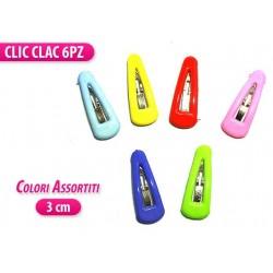 MINI CLIC/ CLAC 3 CM. 6 PZ. COLORI ASS.