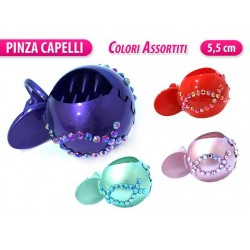 PINZA MEDIA COLORATA CON STRASS