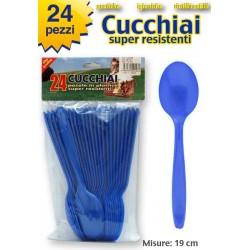 CUCCHIAIO COLORE BLU 24 PZ.  NS