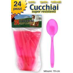 CUCCHIAIO COLORE ROSA 24 PZ.     NS