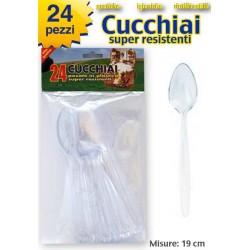 CUCCHIAIO COLORE TRASPARENTE  24 PZ.  NS