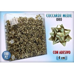 COCCARDA 2 MIS. GOLD  100 PZ.    NS