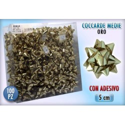 COCCARDA 3 MIS. GOLD  100 PZ.    NS