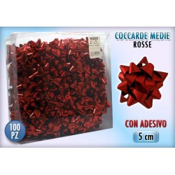 COCCARDA 3 MIS. RED 100 PZ.     NS