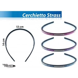 CERCHIETTO SOTTILE C\STRASS COL ASS   NS