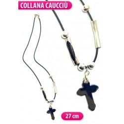 COLLANA EMATITE C/CROCE