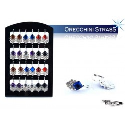 ORECCHINI C/STRASS COLORATI ESP 12 PZ NS
