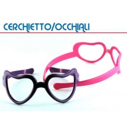 GLASS FERMAGLI CUORE COLOR.ASSORT