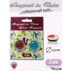 MAGNETE VETRO 2 PZ. ORIGINAL FLOWER NS