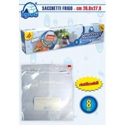 SACCHETTI FRIGO 27,9X26,8  PZ.8 C/ZIP NS