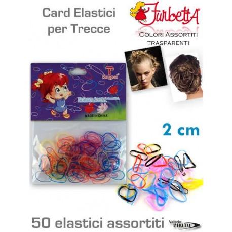 ELASTICI TRECCINA COLORI ASSOT.  80 PZ.